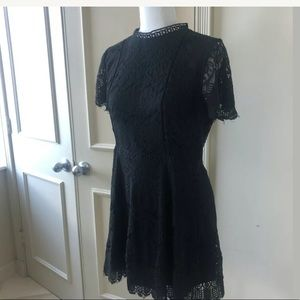 Altar'd State Black Lace Overlay dress Sz L